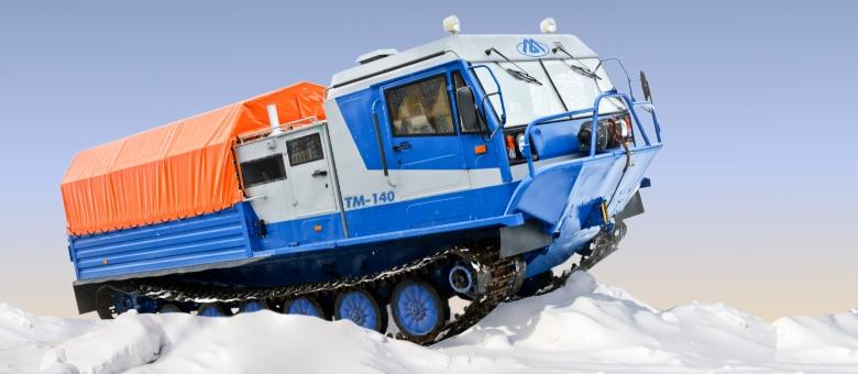 Гусеничная транспортная машина ТМ-140 с грузовой платформой