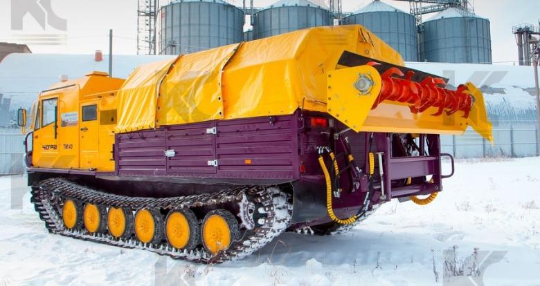 Роторный рыхлитель на базе гусеничного плавающего вездехода ТМ 140