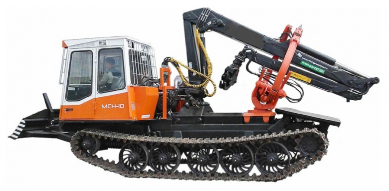 Трактор гусеничный лесопромышленный с технологическим оборудованием ЛП-18К