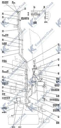 2502-43-3СП Установка системы подогрева 1.5