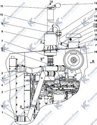 311516-05-1-01СП Установка систем воздухоочистки и выпуска 1.13