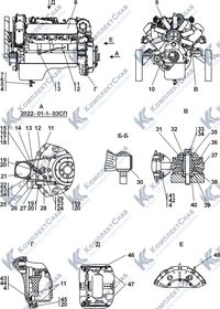 2022-01-1-02СП/-03СП Установка двигателя ЯМЗ-238 1.1