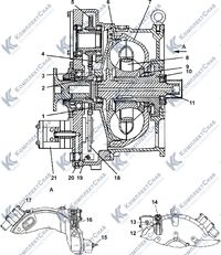 Гидротрансформатор с редуктором привода насосов 3.4