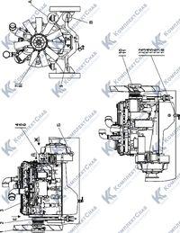 1506-01-1-01СП Установка двигателя QSC8,3-С245 Cummins 1.1