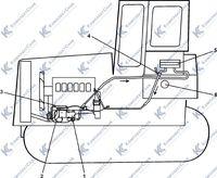 Схема размещения системы подогрева трубоукладчика ТГ122Я 2.11