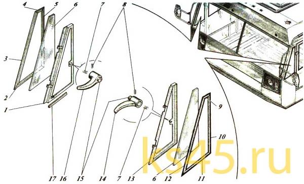 Форточка ТМ120-57-сб488; ТМ120-57-сб488-01