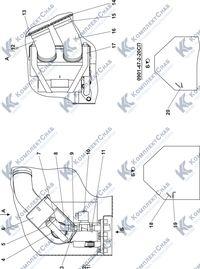 0901-47-2СП Установка зависимого отопителя кабины 6.7