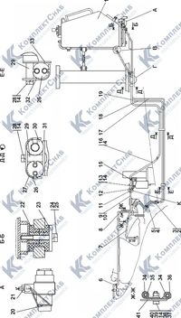 1502-25-1-01СП Установка топливного бака 1.5