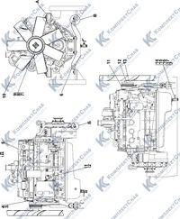 1106-01-4СП/-01СП Установка двигателя QSB 6,7-C Cummins 1.1