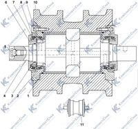 1101-21-40СП/-40-01СП Каток опорный 3.8