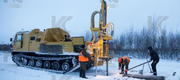 Установка буровая на базе гусеничного вездехода ТМ-140