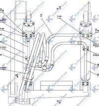 011101-97-508СП Гидросистема рыхлительного оборудования 7.12