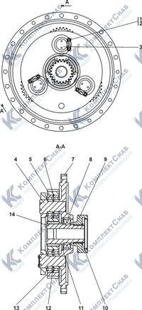 0901-96-106СП Редуктор планетарный 7.24