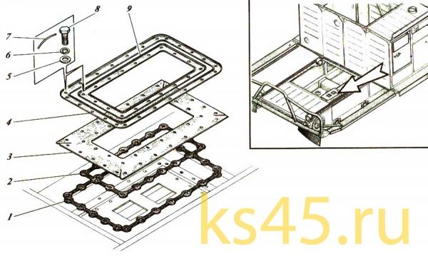 Установка кабины ТМ120-57-сб300 (2)