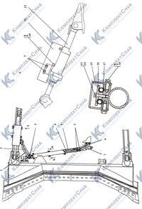 012001-93-500СП Гидросистема бульдозерного оборудования 117