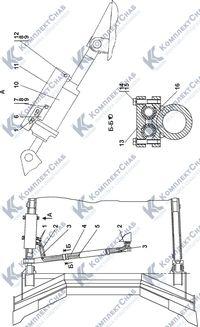 011101-93-550СП Гидросистема бульдозерного оборудования 7.5