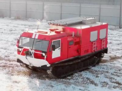 Противопожарный агрегат на базе вездехода ТМ140