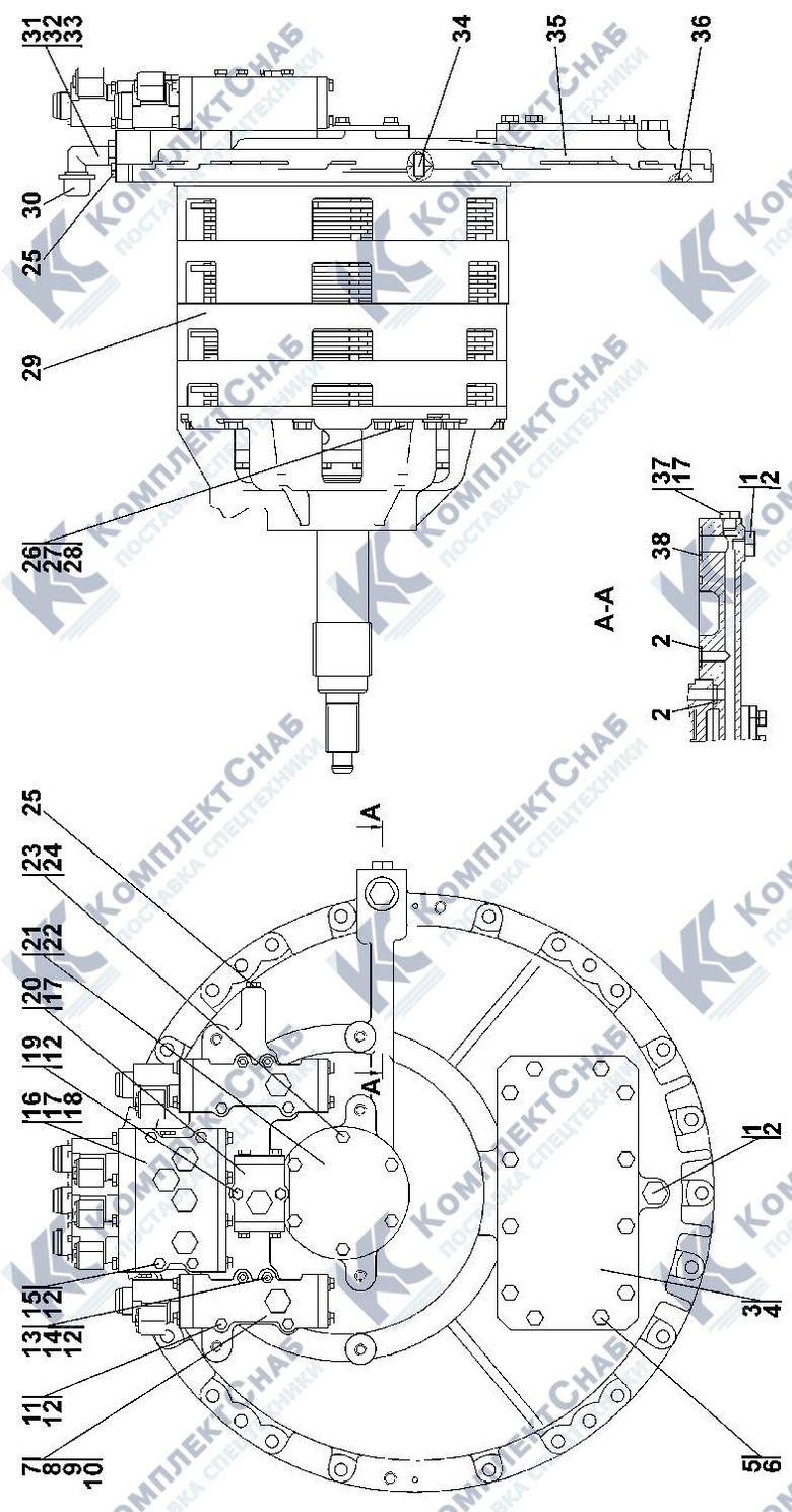 0901-12-11CП Коробка передач с системой гидроуправления 4.4