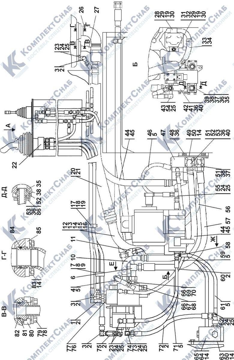 1101-26-2-01СП/-02СП Установка гидросистемы 5.3