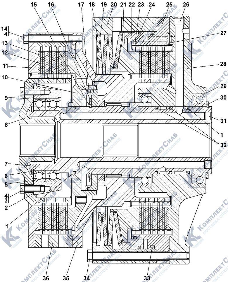 1101-18-10СП Фрикцион бортовой и тормоз остановочный 4.20