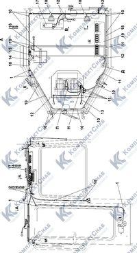 1102-10-13СП Электрооборудование крыши кабины 2.9