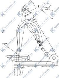 011101-97-508СП Гидросистема рыхлительного оборудования 7.13