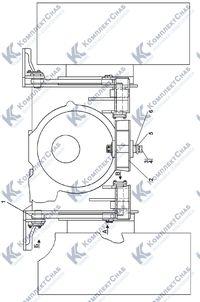 1101-51-1СП Установка прицепного устройства 7.25