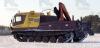 Гусеничная транспортная машина ТМ-140 с крано-манипуляторной установкой «Palfinger 15500»