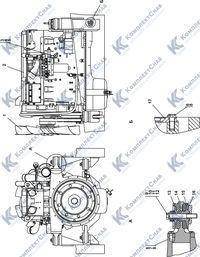 313516-01-1СП Установка двигателя QSX15-C500 Cummins 1.1
