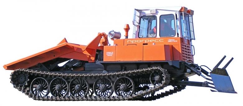 Трактор трелевочный МСН-10-04 оборудованный передним толкателем