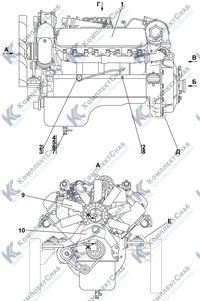 2022-01-1СП/-01СП Установка двигателя ЯМЗ-238 1.1