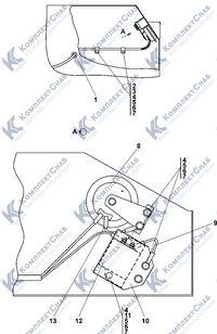 0902-10-15СП Установка звуковых сигналов в контейнере аккумуля-торных батарей (АКБ) 2.8