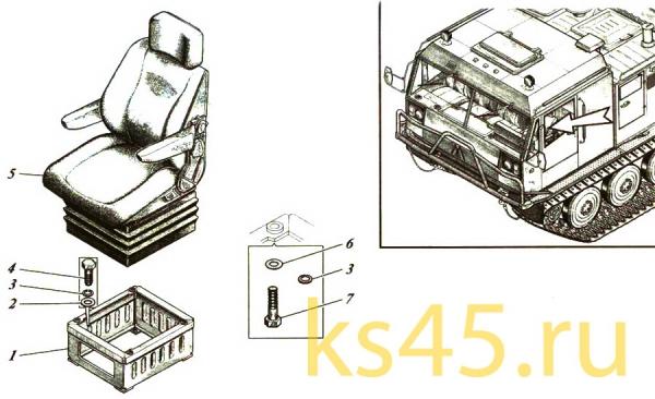 Сиденье водителя ТМ120-59-сб1(2)