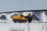 вездеход ЧЕТРА ТМ140 в ходе тест-драйва в Якутске