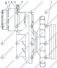 1101-19-2СП Передача бортовая, фрикцион и тормоз 4.21
