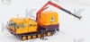Гусеничная транспортная машина ТМ-140 с модулем-мастерской и краном-манипулятором Palfinger PK12000A