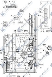 1152-10-109СП Установка жгутов на левой стенке в полу кабины 2.20