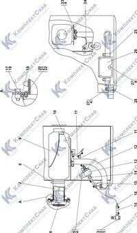 0901-53-1СП Установка независимого отопителя кабины 6.8