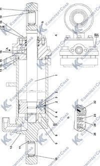 011501-97-502СП Гидроцилиндр 160 7.18