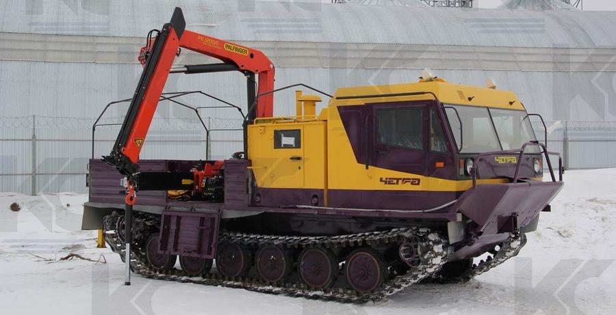 Гусеничная транспортная машина ЧЕТРА ТМ-140 с крано-манипуляторной установкой «Palfinger 12000»