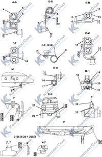 313516-25-1СП Установка топливного бака 1.7