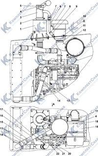 1106-05-5СП Установка систем воздухоочистки и выпуска 1.3
