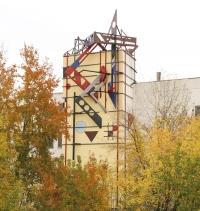 оформление одного из корпусов «Чебоксарского агрегатного завода»