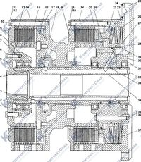 2501-18-16СП Фрикцион бортовой и тормоз остановочный 32