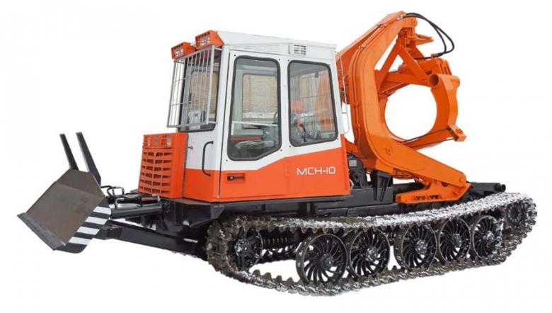 Трактор гусеничный лесопромышленный с технологическим оборудованием ЛТ-187