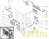 Шумоизоляция кабины 533-9-62-32-010-1К (Н)