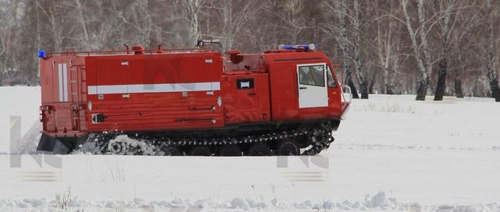 Пожарная порошковая машина на базе гусеничного вездехода ЧЕТРА ТМ-140