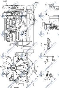 313516-01-1СП Установка двигателя QSX15-C500 Cummins 1.2