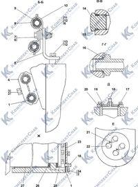 1101-26-12СП Установка гидроцилиндров 5.6