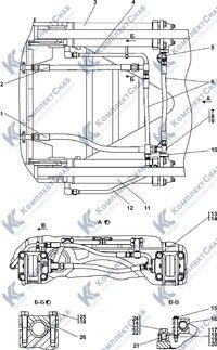 011501-97-500СП Гидросистема рыхлительного оборудования 7.17